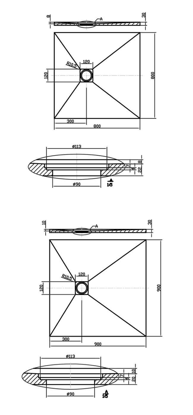 TECHNICAL DRAWING schema-cut-80x80cm-90x90cm