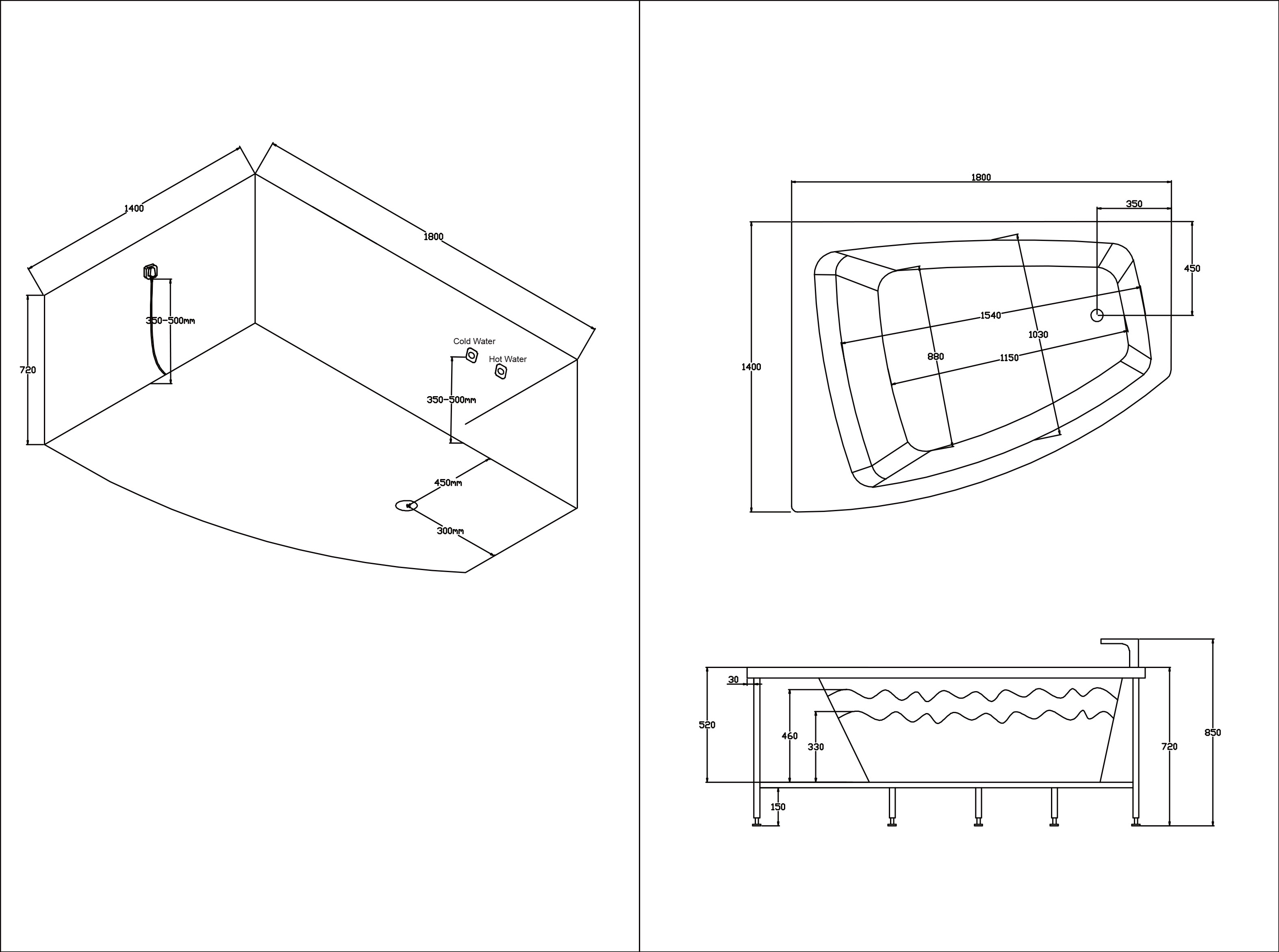 TECHNICAL DRAWING Schéma-balnéo-Caleca