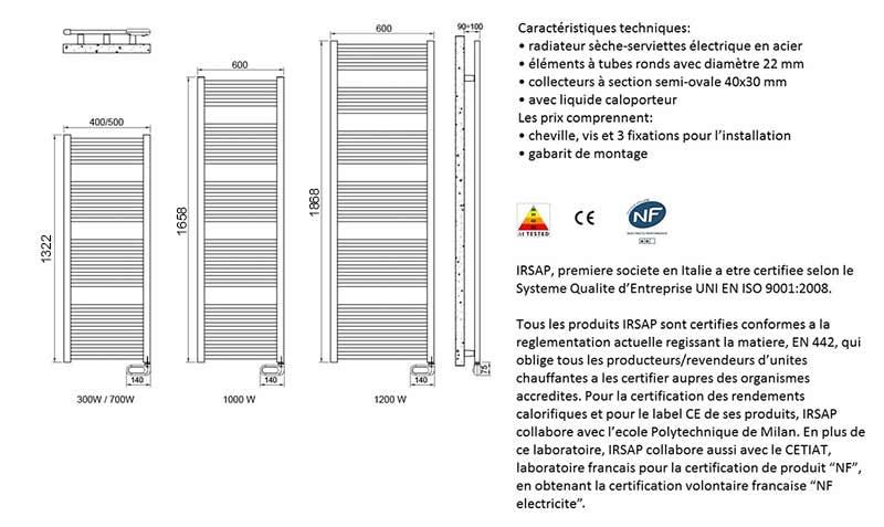 TECHNICAL DRAWING Schéma-radiateur-flèche