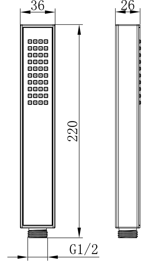 TECHNICAL DRAWING HG75-dimension
