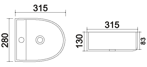 TECHNICAL DRAWING schema vasque 4316