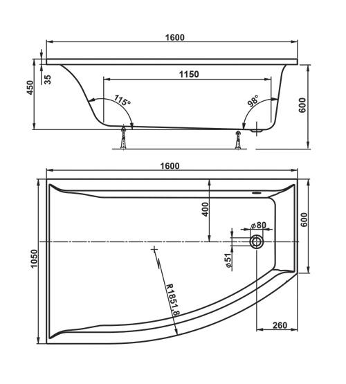 TECHNICAL DRAWING veronella asymétrique schema