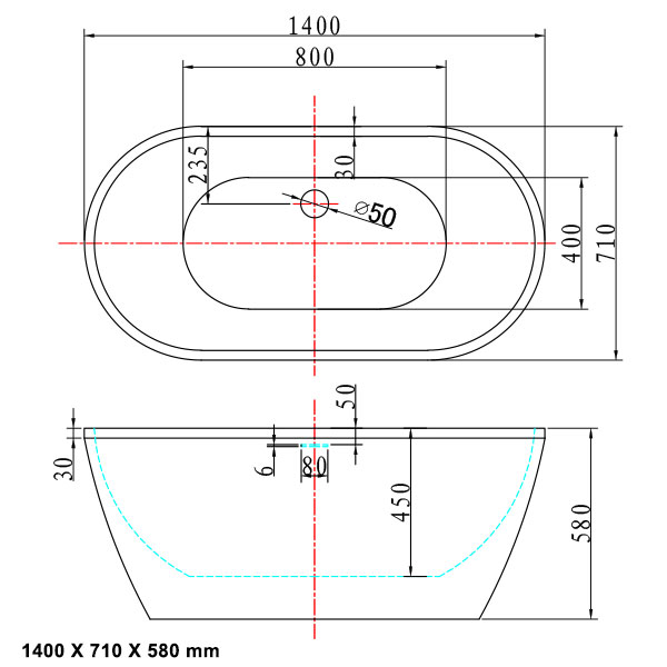 TECHNICAL DRAWING calipso-140