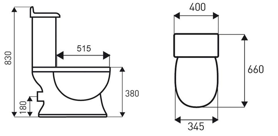TECHNICAL DRAWING schema WC Laetitia