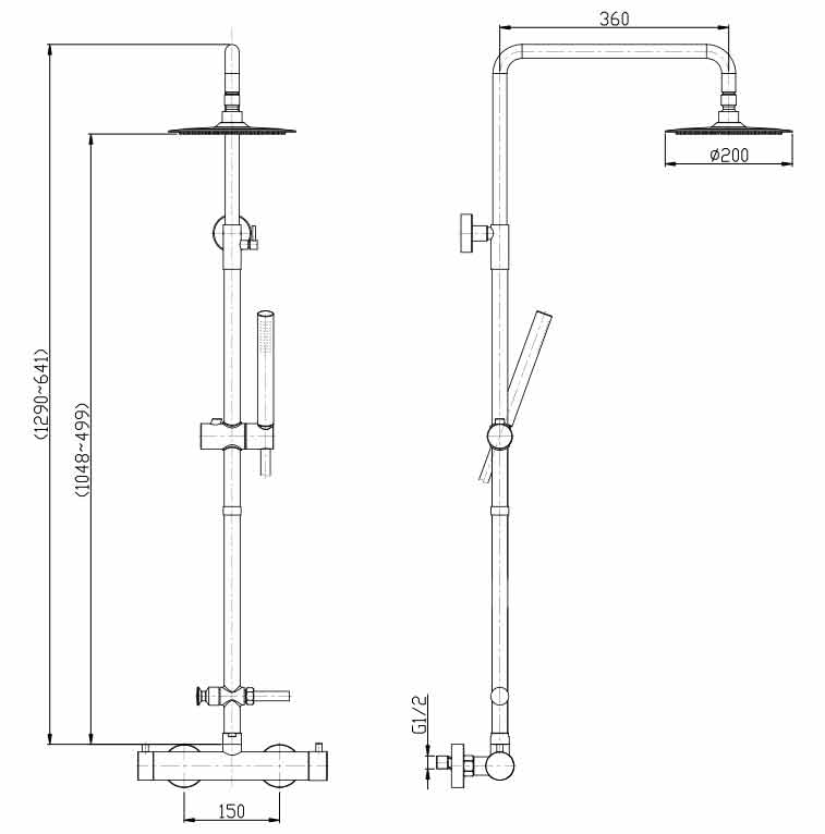 TECHNICAL DRAWING schema colonne thermo Steel