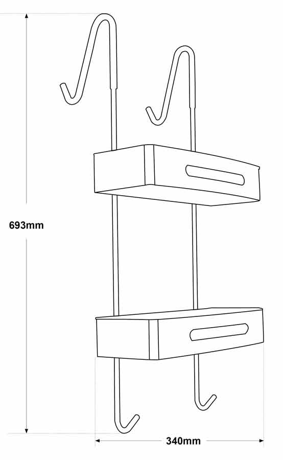 TECHNICAL DRAWING schema etagere Steel