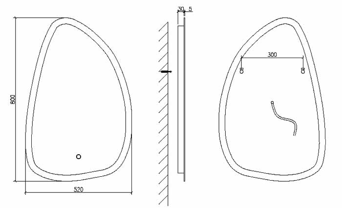 TECHNICAL DRAWING schema miroir Bona