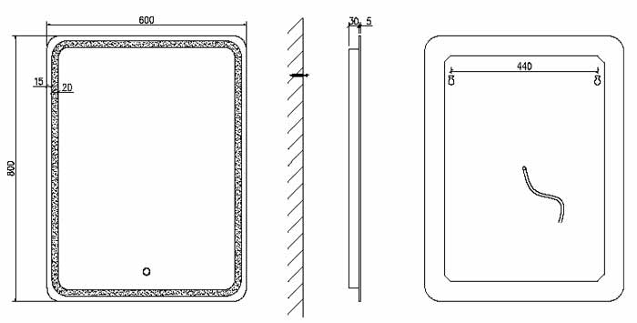 TECHNICAL DRAWING schema miroir squared