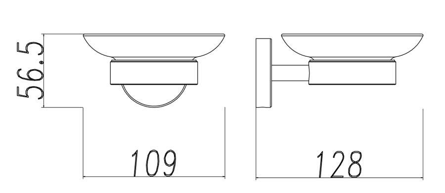 TECHNICAL DRAWING schema porte savon steel