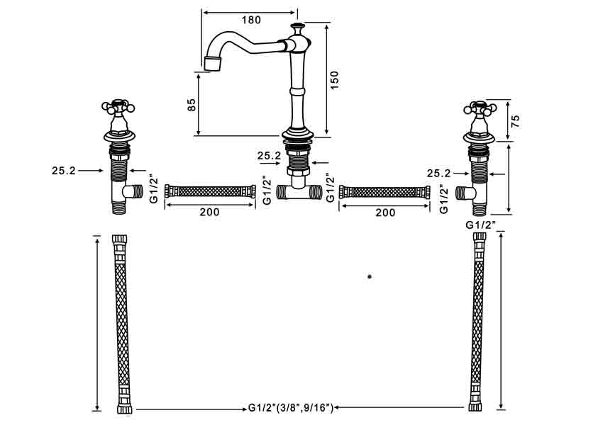 TECHNICAL DRAWING schema melangeur antic