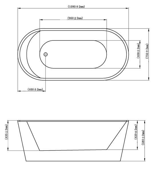 TECHNICAL DRAWING schema-baignoire-como