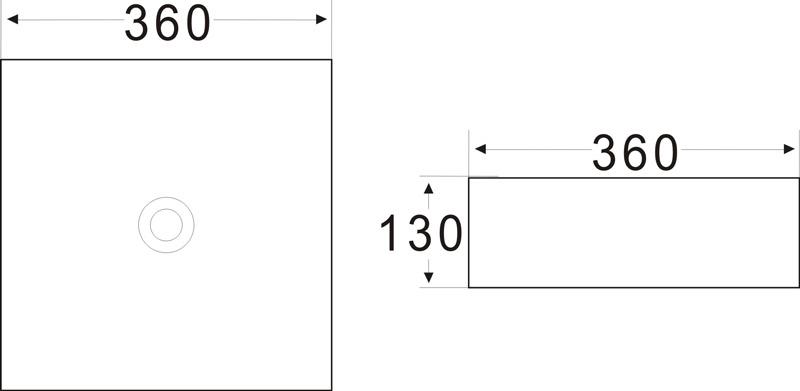 TECHNICAL DRAWING schema vasque art carree