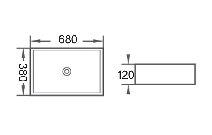 TECHNICAL DRAWING schema strip 68x38cm
