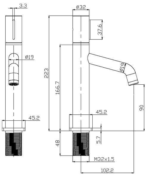 TECHNICAL DRAWING schema-robinet-thin
