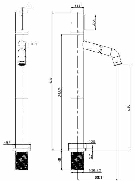 TECHNICAL DRAWING schema-mitigeur-thin-sureleve