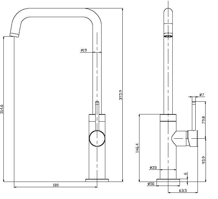 TECHNICAL DRAWING robinet-haut-thin