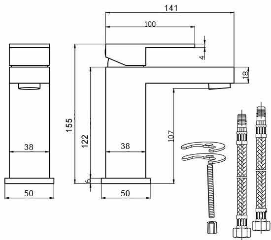 TECHNICAL DRAWING schema-mitigeur-lavabo-Sarre