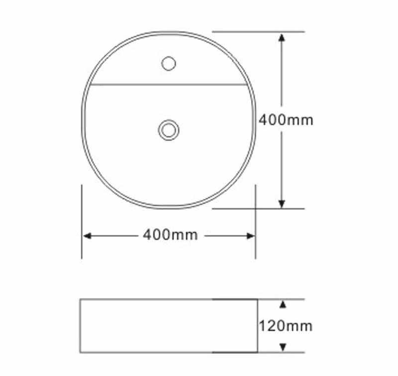 TECHNICAL DRAWING schéma vasque art 40x40
