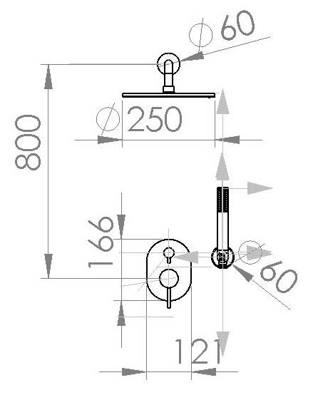 TECHNICAL DRAWING schema jack douche