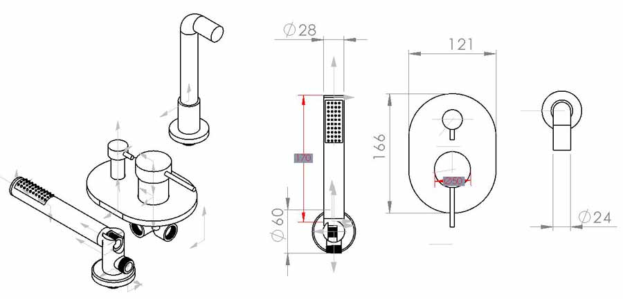 TECHNICAL DRAWING schema-jack bain douche