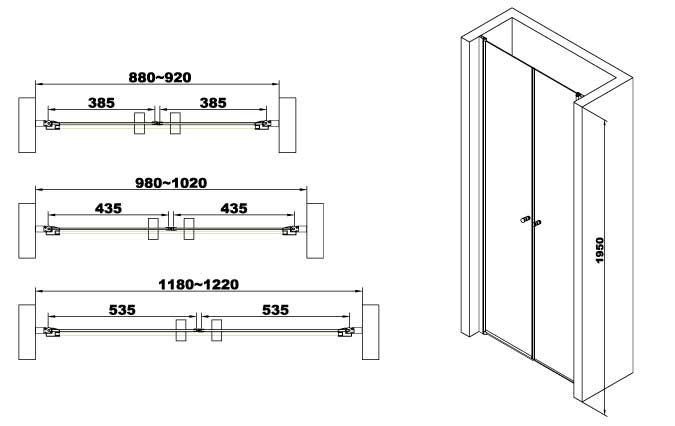 TECHNICAL DRAWING schema dimensions saloon