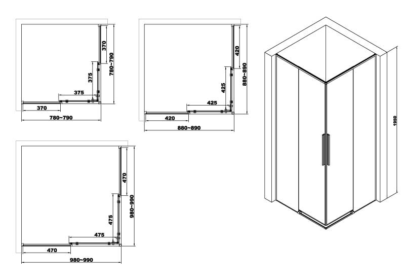 TECHNICAL DRAWING schema-cabine-douche-arena