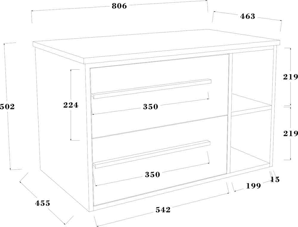 TECHNICAL DRAWING meuble-tropcoul-80