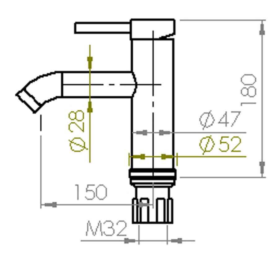 TECHNICAL DRAWING schema tech jack lavabo