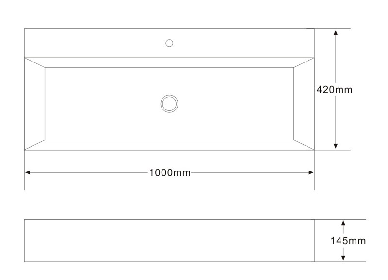 TECHNICAL DRAWING vasque 100cm Art