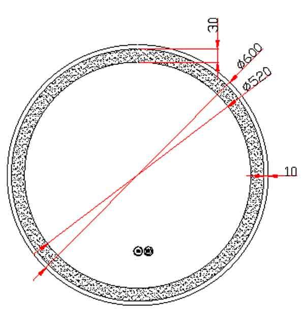 TECHNICAL DRAWING schema round noir