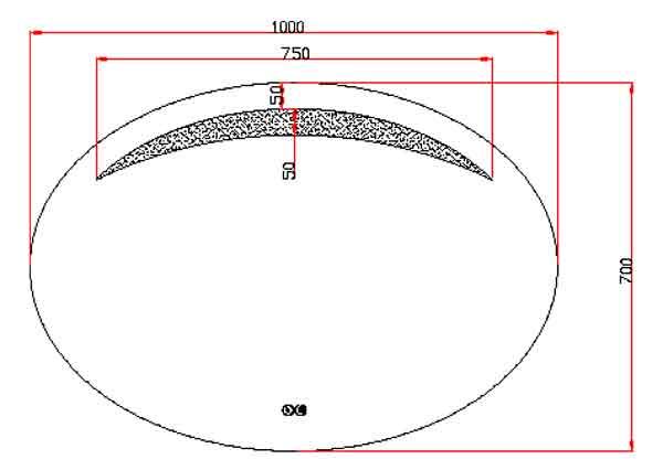 TECHNICAL DRAWING schema miroir luna100