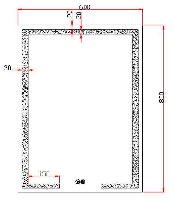 TECHNICAL DRAWING schema miroir deco-light