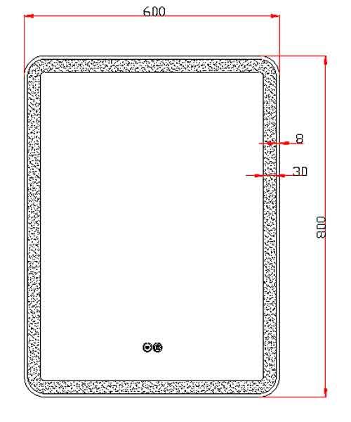TECHNICAL DRAWING schema miroir Art 60x80