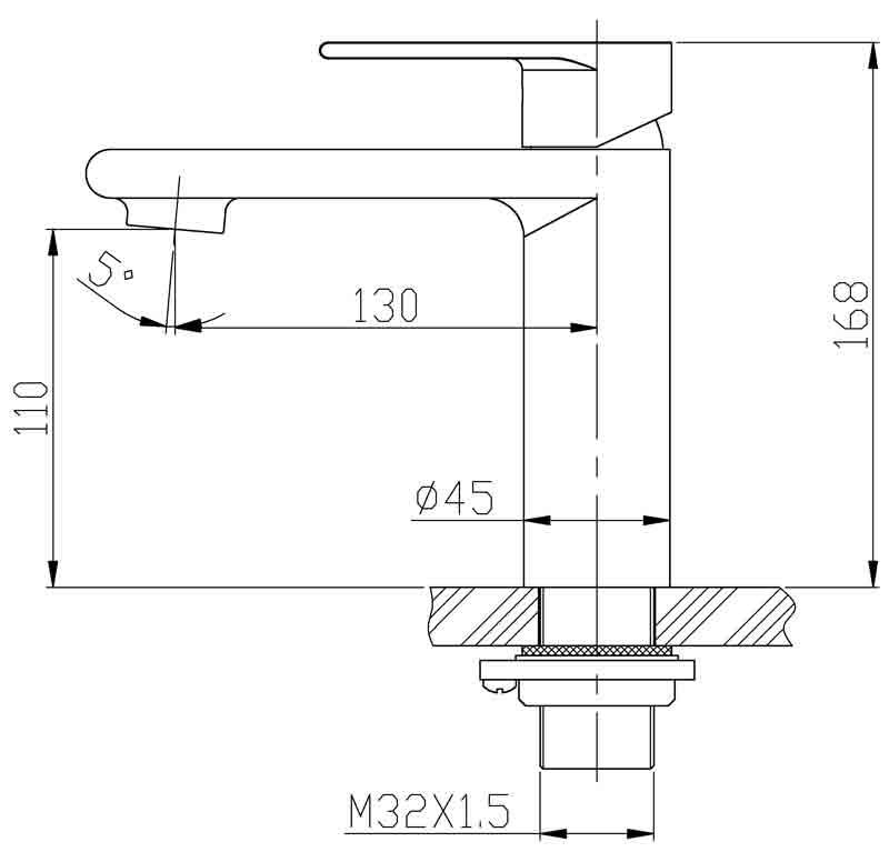 TECHNICAL DRAWING schema robinet lavabo quadra ste