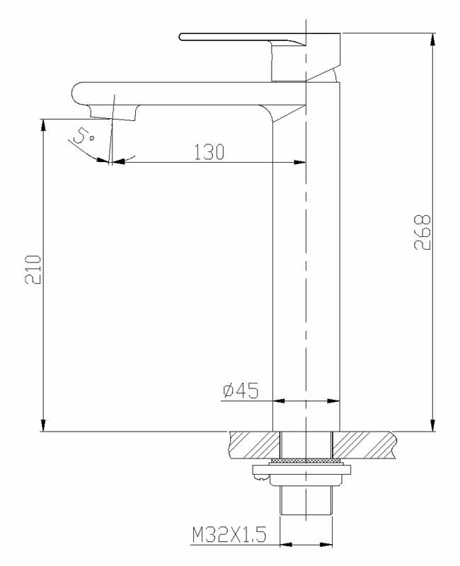 TECHNICAL DRAWING schema robinet sureleve quadra s