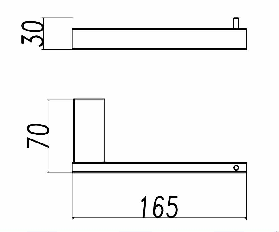 TECHNICAL DRAWING porte rouleau quadra steel