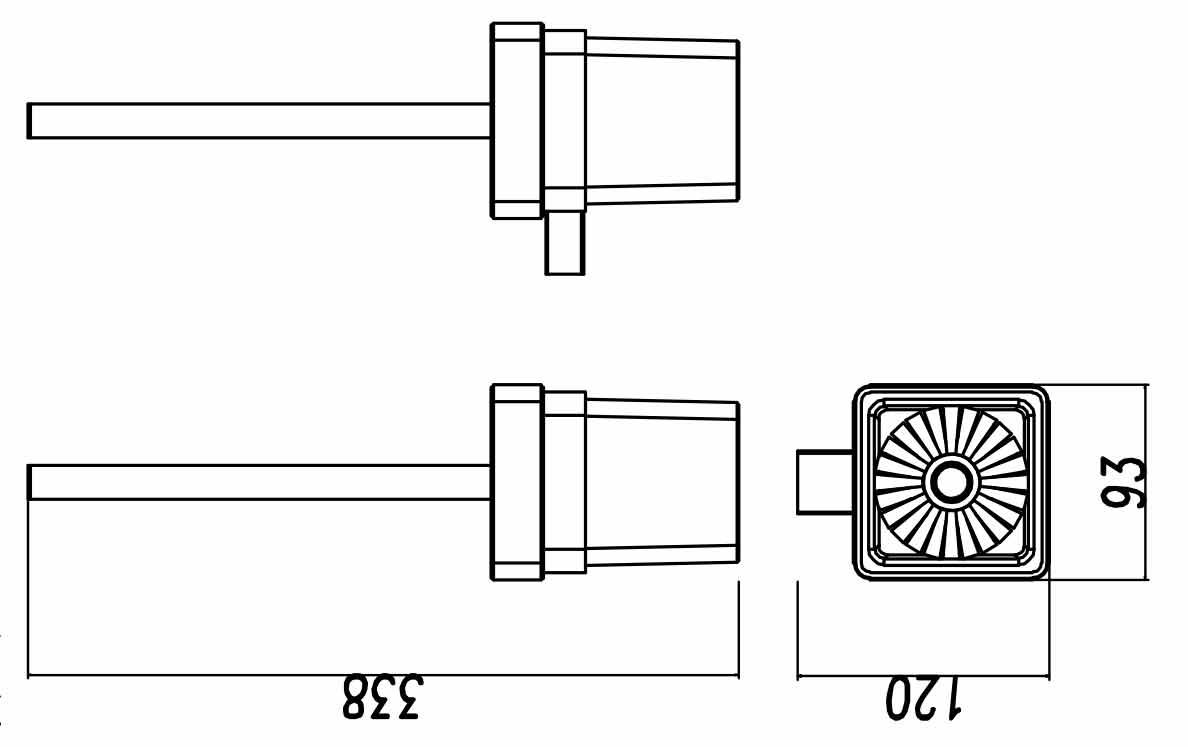 TECHNICAL DRAWING porte balayette quadra steel
