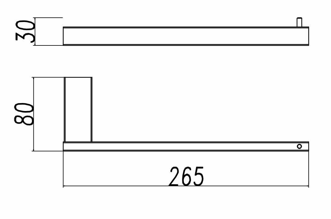 TECHNICAL DRAWING porte serviettes ouvert quadra s