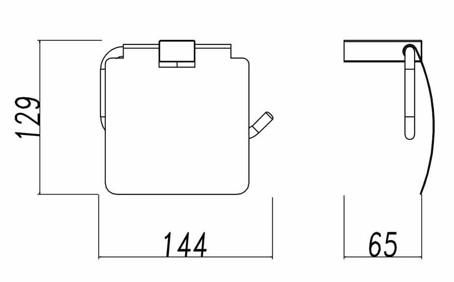 TECHNICAL DRAWING porte rouleau avec couvercle qua