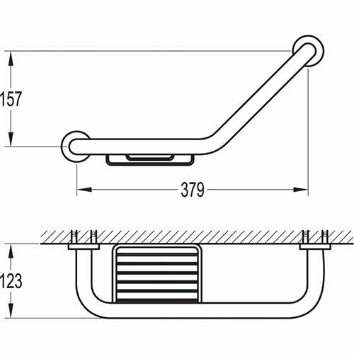 TECHNICAL DRAWING schema barre d'appui avec panier