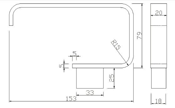 TECHNICAL DRAWING schema distributeur de papier Qu