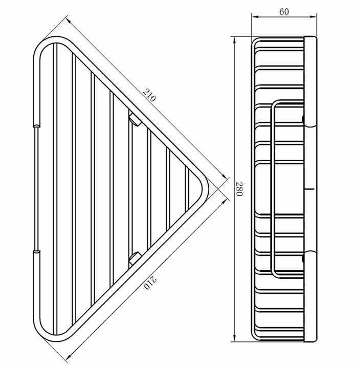 TECHNICAL DRAWING schema-porte-savon-angle-simple