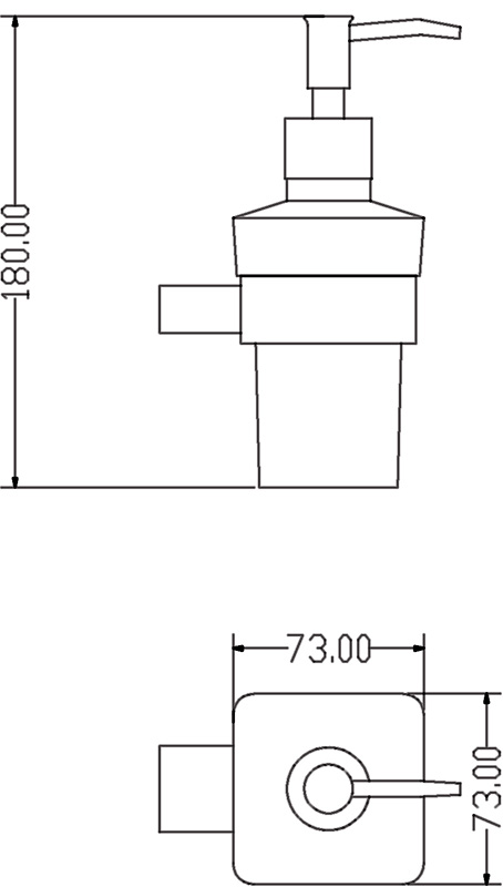 TECHNICAL DRAWING schema-distributeur-savon-qube