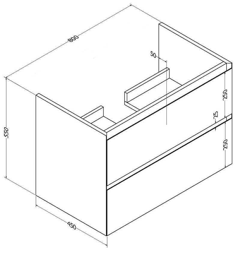 TECHNICAL DRAWING -schema-meuble-one-80