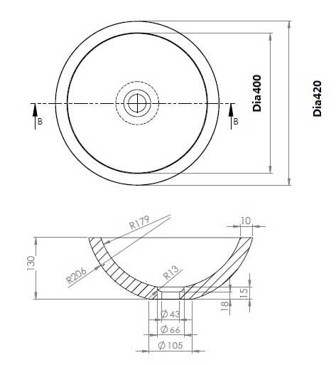 TECHNICAL DRAWING schema-carrara-ronde