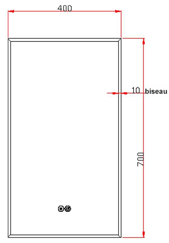 TECHNICAL DRAWING schema-miroir-pure-40x70