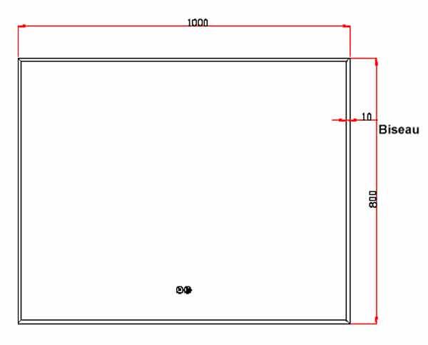 TECHNICAL DRAWING schema-miroir-pure-100x80