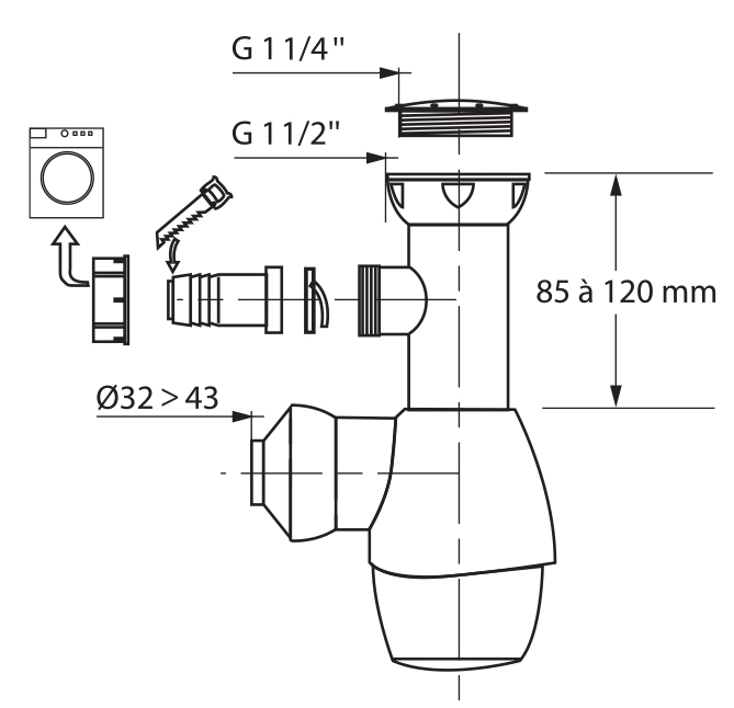 TECHNICAL DRAWING schema-siphon-wirquin