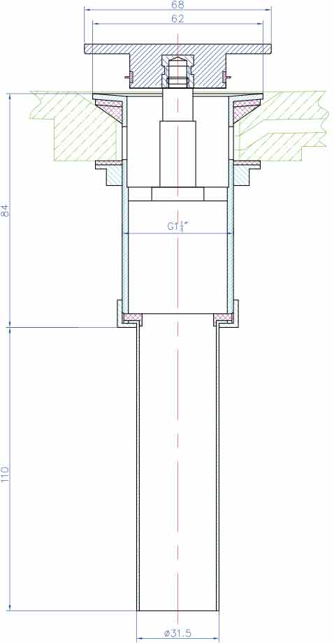 TECHNICAL DRAWING schema-pop-up