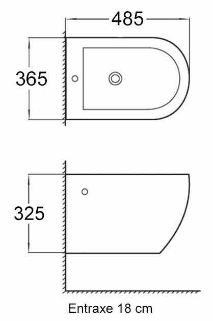 TECHNICAL DRAWING bidet-stelvio-compact